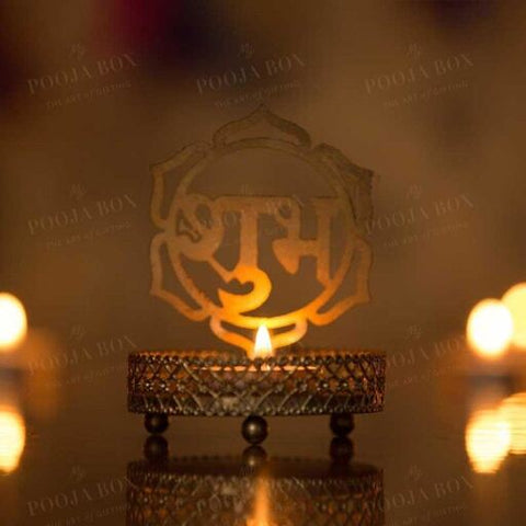 Antique Shubh Shadow Tealight Candle Holder