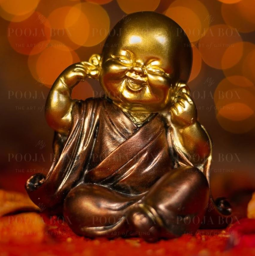 Beautiful Little Monk with Closed Ears