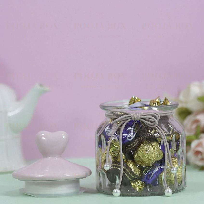 Charming Heart Shaped Chocolate Jar is best birthday gift for wife