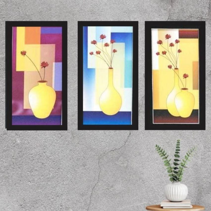 10.Decorative Abstract Three Piece Painting For Home Decor