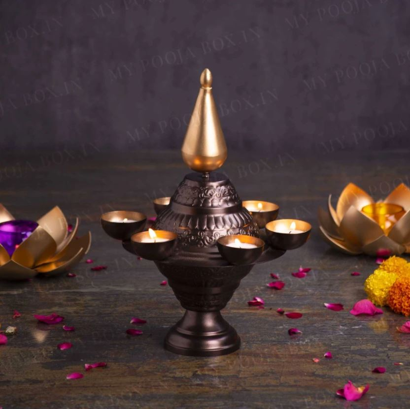 Enchanting Deepavali Traditional T-Light Lamp