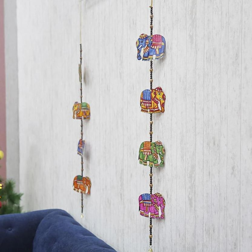 Hand Painted Elephant Wall Hanging Decoration