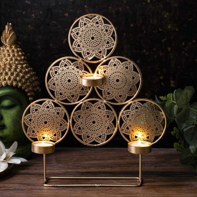 Handcrafted Trikona T-light Holder