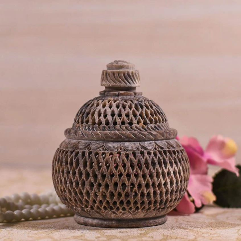 Handcrafted Marble Jali Potpourri Box