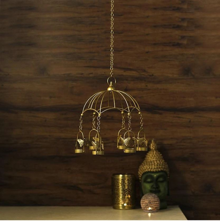 Hanging Bird Cage T-light Holder