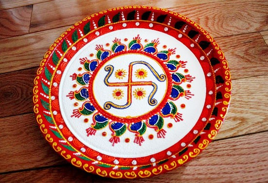 karwa chauth thali decoration with oil