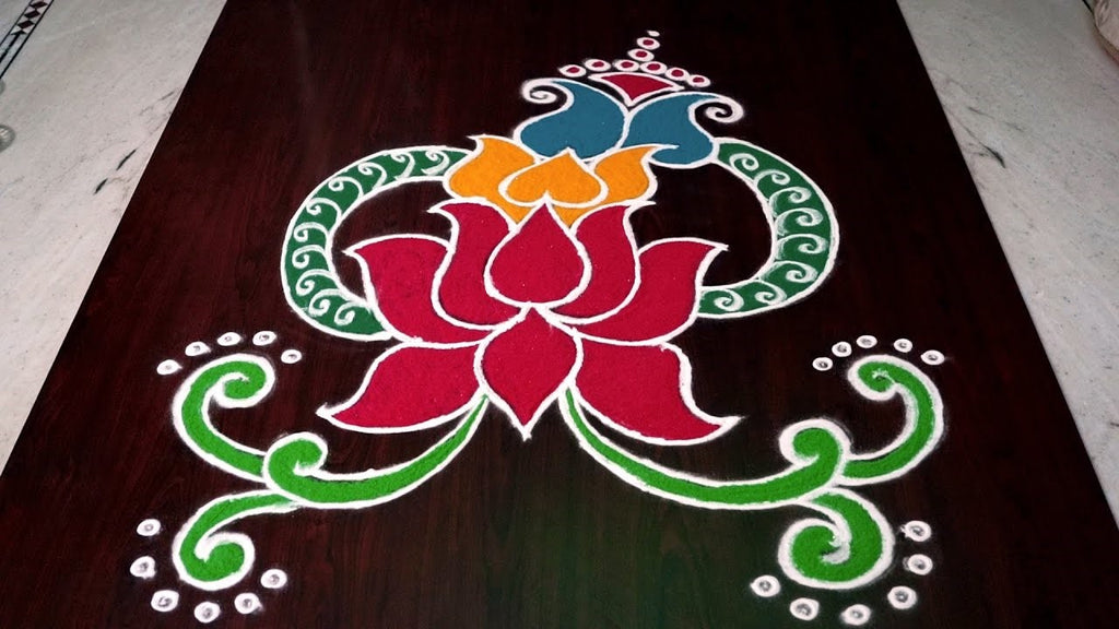 Lotus Rangoli Design