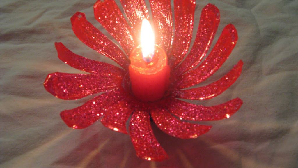 Plastic Bottle Diwali Flower