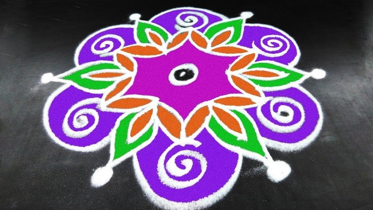 Simple Rangoli Design