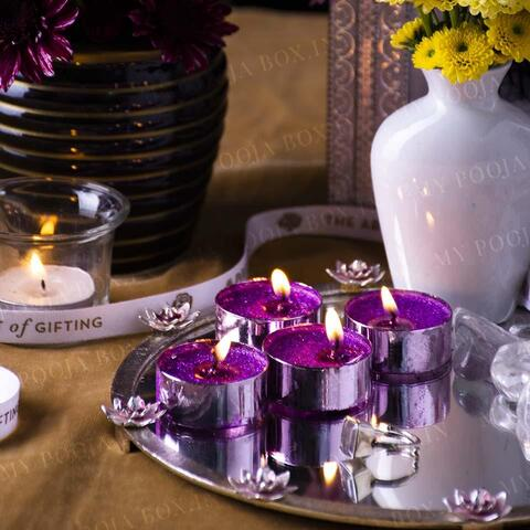 Sparkling Tealight Candle (Set of 4)