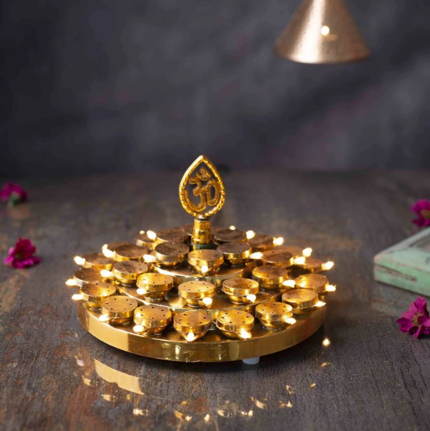 Traditional OM Layered LED Deep Thali