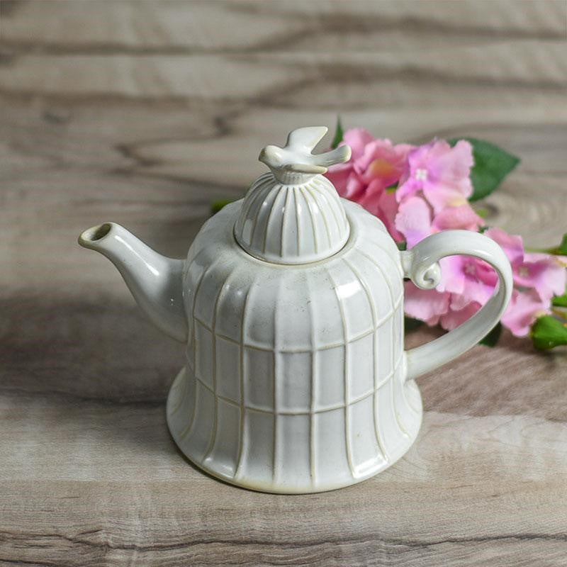 Vintage Bird Tea Pot