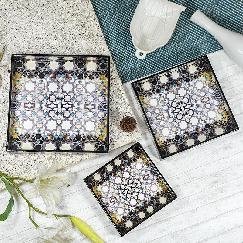Zaria multicolor serving tray unique wedding gift ideas for bride and groom