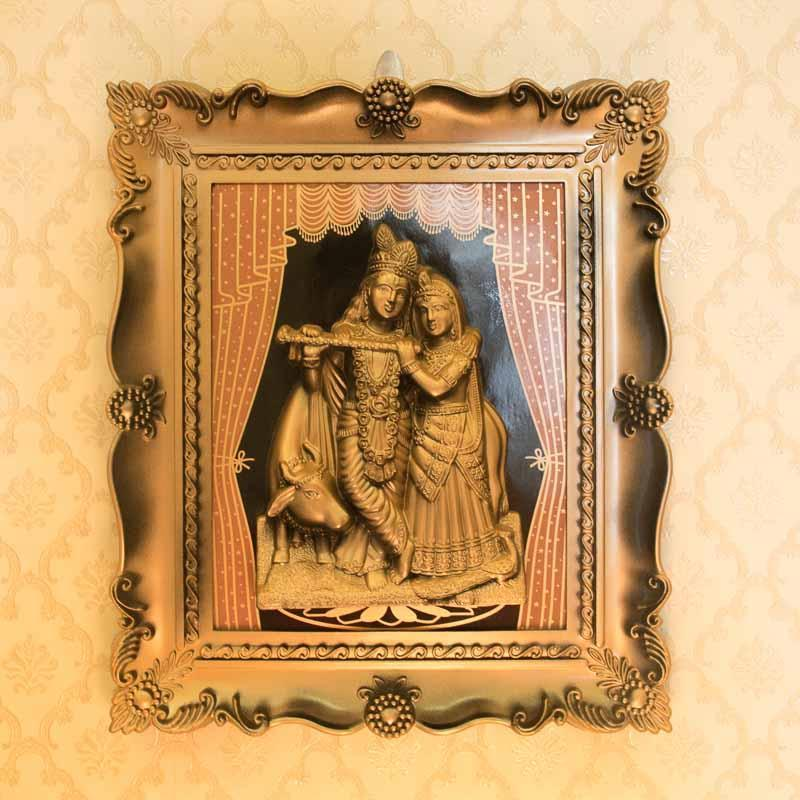 Framed Radha Krishna Photo