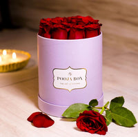 Red Roses - Lilac Flora Box