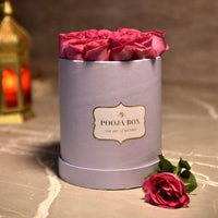 Pink Roses -  Lilac Flora Box