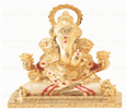 24 K Gold Foil Pearl White Dagdu Sheth Idol