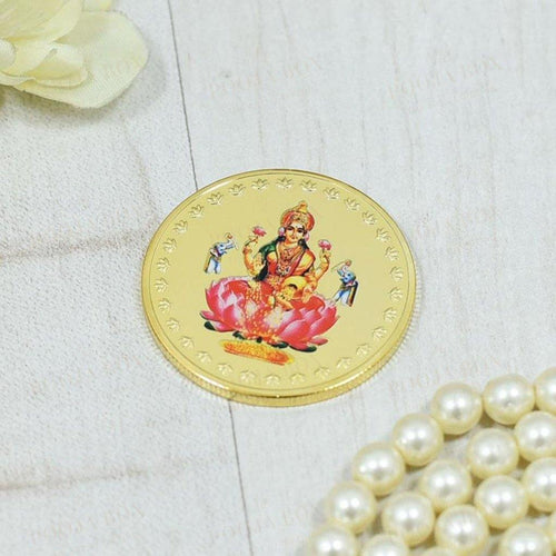 24K Gold Foil Laxmi Coin & Bar