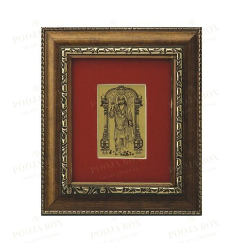 24K Gold Foil Sai Baba Small Card Frame Framed Paintings
