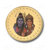 24K Gold Foil Shiv Parvati Coin & Bar