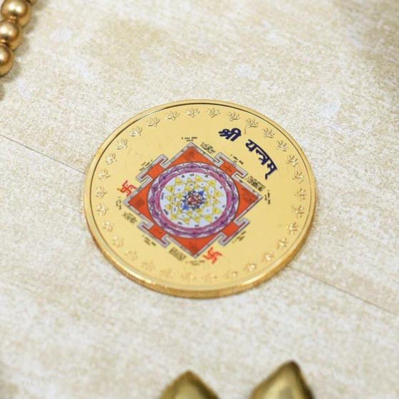 24K Gold Foil Shree Yantra Coin & Bar