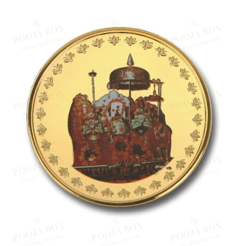 24K Gold Foil Vaishno Devi Coin & Bar