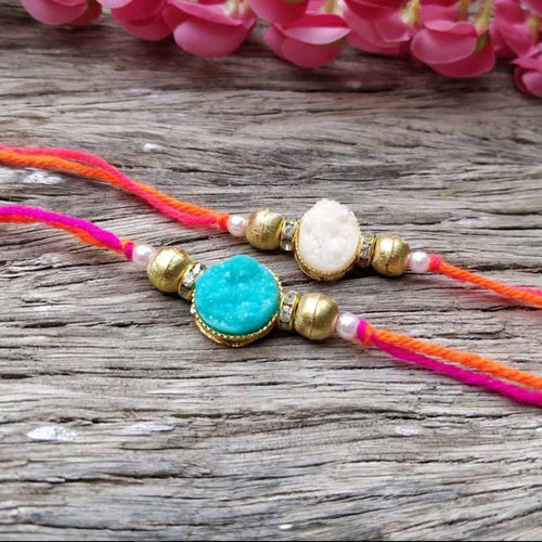 Chic Ornate Rakhi Set of 2