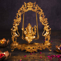 Traditional Brass Jhula Ganesha