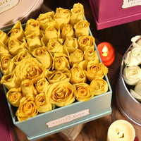 Yellow Roses - Tiffany Blue Flora Box