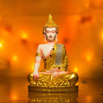 Golden Buddha Idol in Earth Touching Position