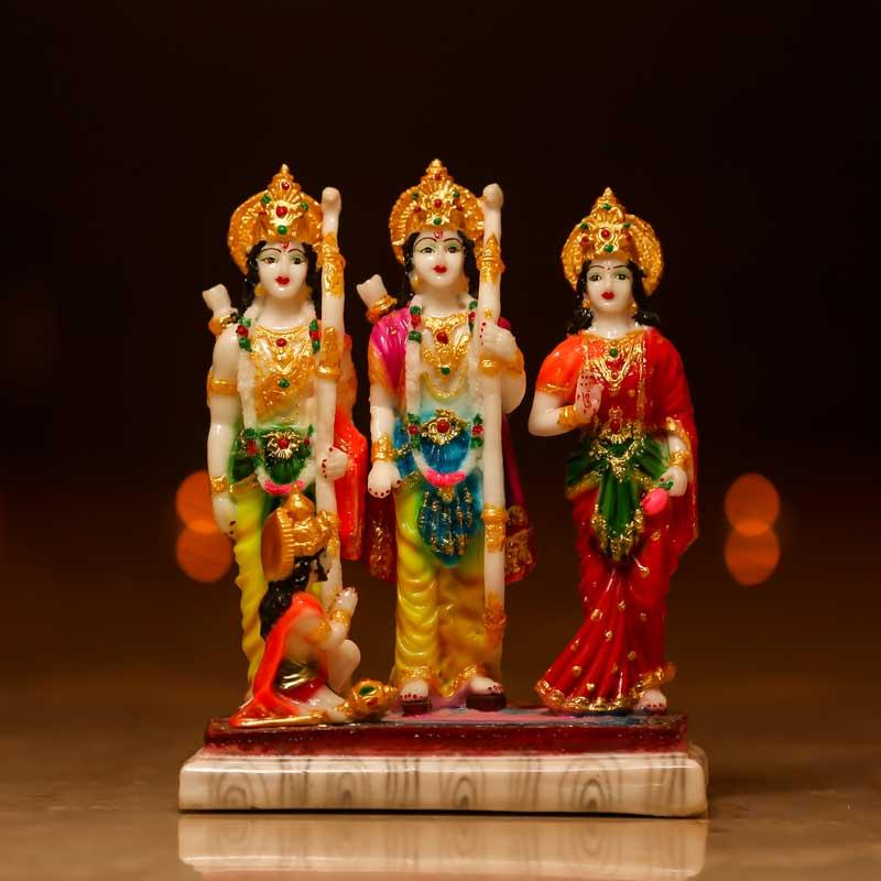 Blissful Ram Darbar Statue for Home Decor