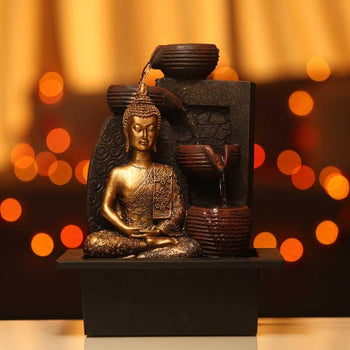 Propitious Lord Buddha Water Fountain in Meditation Mudra