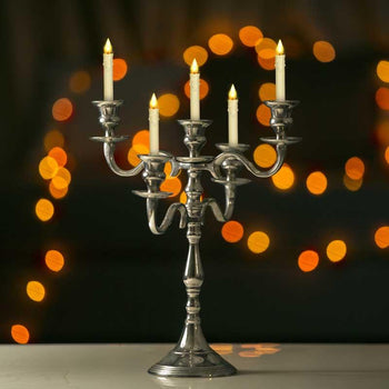 Luxurious Five Arm Silver Candle Holder