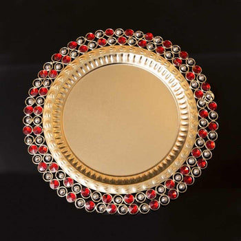 Red Stone Studded Plate