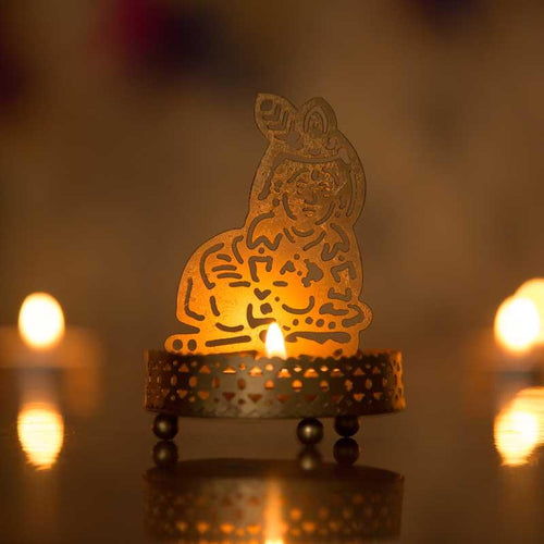 Beautiful Bal Gopal Shadow Tealight/Candle Holder