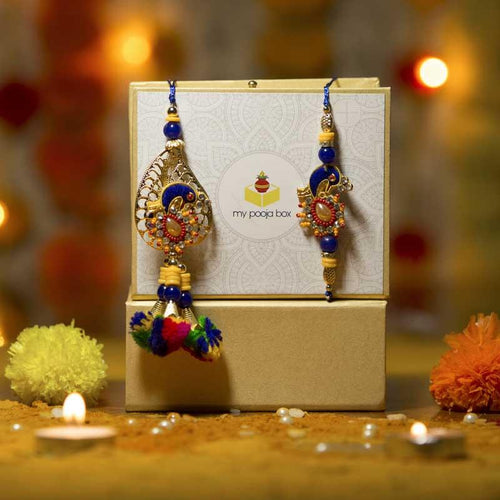 Beautiful Petite Rakhi Box with Colorful Rakhi and Dry Fruits/Chocolate