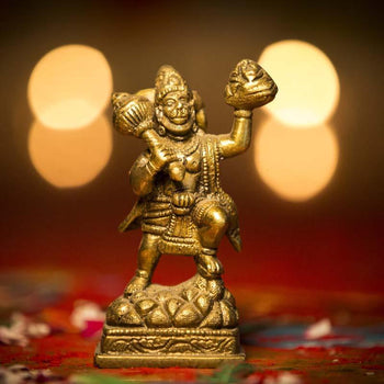 Beautiful Brass Hanuman Murti