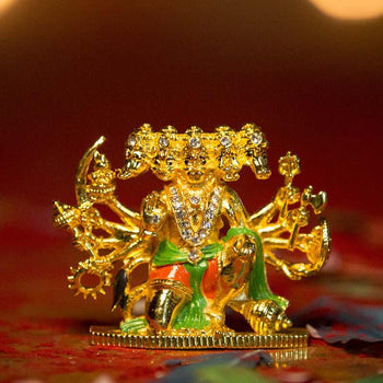 Diamond Studded Panchmukhi Hanuman Idol