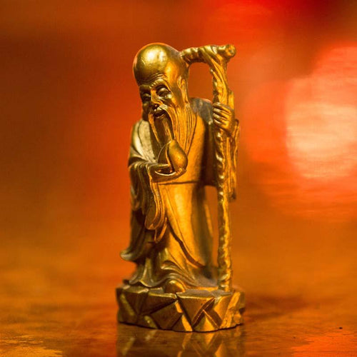 Golden Feng Shui Gods of Wealth Fuk Luk Sau