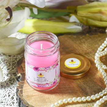 Romantic Rose Glass Jar Scented Candle