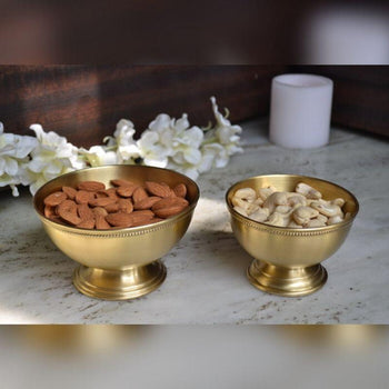 Brass Coated Dry-fruit Bowl Set of 2