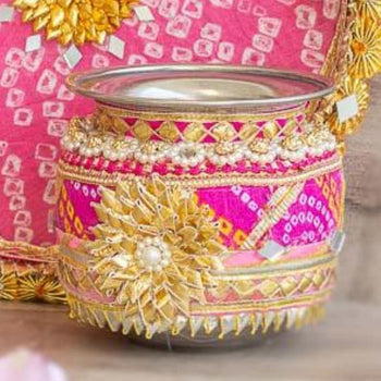 Light Pink & Rani Jaipuri Lota