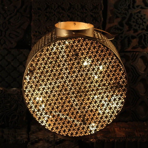 Dazzling Handcrafted Round Hanging Lamp