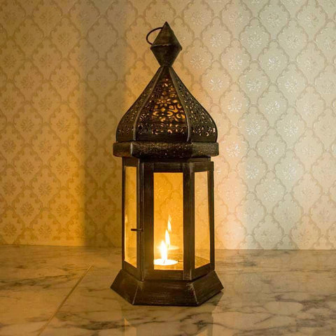 Antique Moroccan Style Candle Lantern Holder