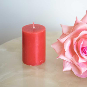 Rich Red Rose Scented Pillar Candle
