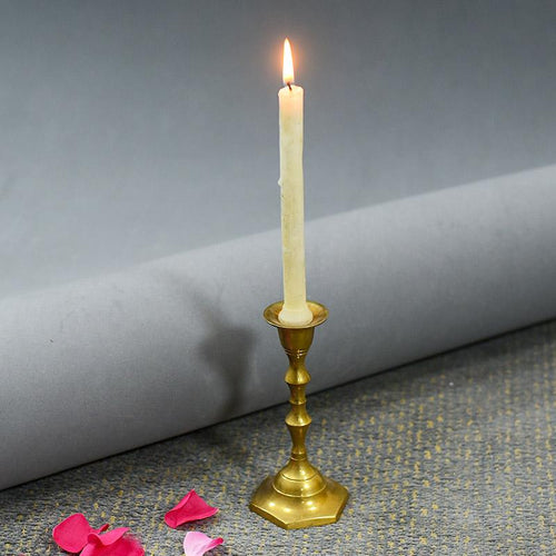 Exquisite Handmade Brass Pillar Candle Holder