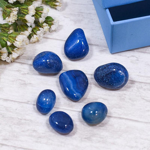 Blue Onyx Crystal Healing Tumble Stone Set