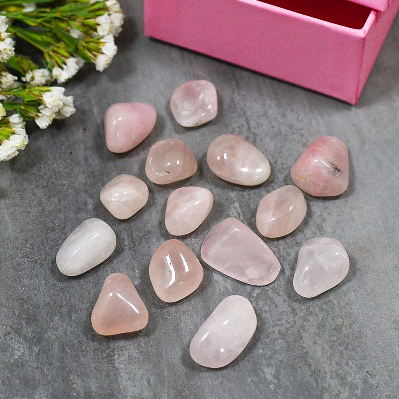 Rose Quartz Crystal Healing Tumble Stone Set