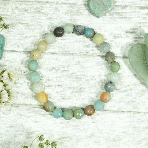 Amazonite Crystal Healing Bracelet | Stone of Courage & Truth