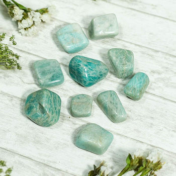 Amazonite Crystal Healing Tumble Stone Set⎮Stone of Courage & Truth